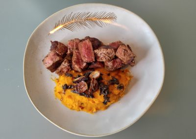 Butter Filet with Squash puree
